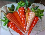 cenoura de pascoa decorada
