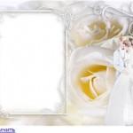 6 Moldura para convite de casamento grátis