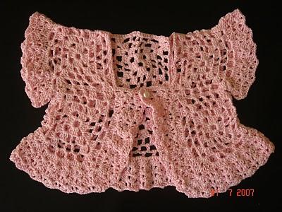 Como fazer bolero em crochê infantil