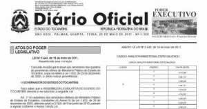 Diário Oficial Tocantins
