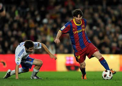Drible de Lionel Messi