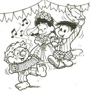 festa-junina-Chico-bento-Desenhos-colorir