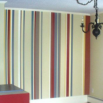 listras na parede coloridas, como fazer, passo a passo, como pintar as paredes com listras coloridas