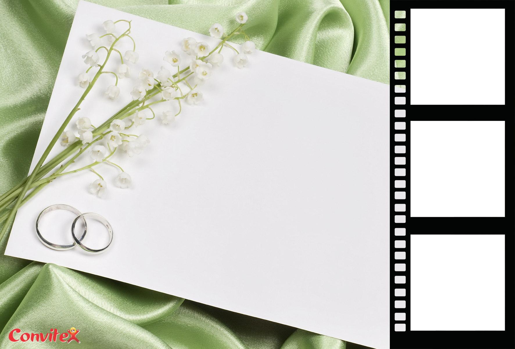 Veja 6 modelos lindos de molduras para convites de casamento grátis