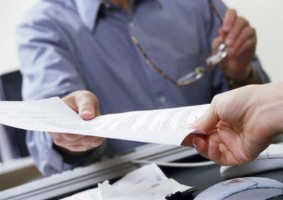 Handing Off Paperwork