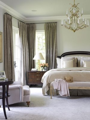traditional home master bedroom