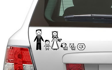 Adesivo de Família para Carros