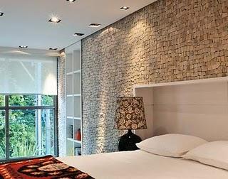 paredes decorada com pedra
