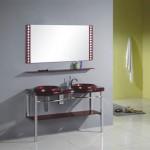 Banheiros com bancadas de vidro com fotos4