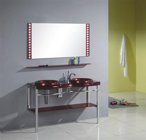 Banheiros com bancadas de vidro com fot -> Bancada De Banheiro Com Pastilha De Vidro