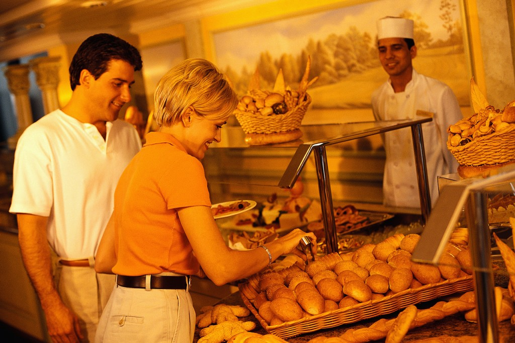 Couple at Buffet on Cruise