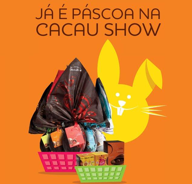 Cacau Show Páscoa 2012 novidades