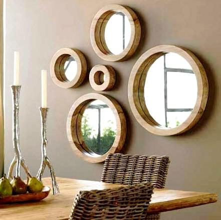 Decora o com espelhos redondos - Fotos de espejos decorativos ...
