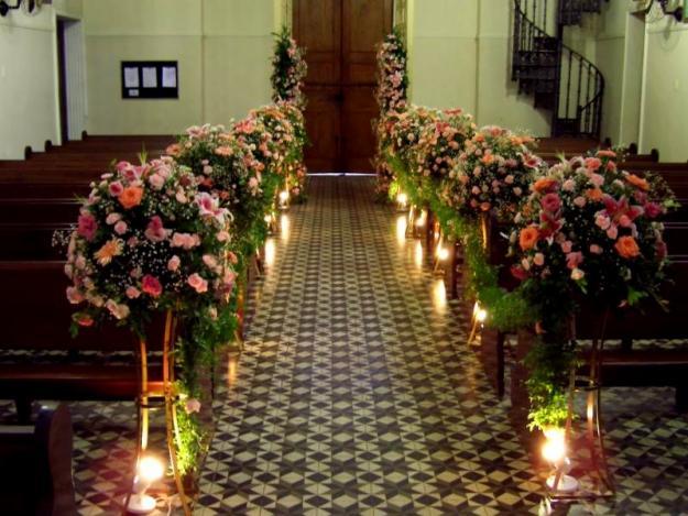 Decoração de igrejas evangélicas para casamento – Fotos