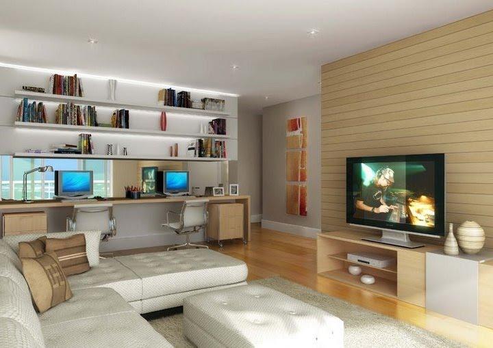 Fotos De Sala De Tv Com Escritorio ~ Essa sala é simplesmente divina! Serve como sala de descanso e