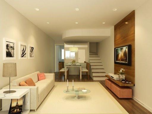 Painel De Tv Na Sala De Jantar ~ As cores do painel de madeira combinaram perfeitamente com o piso de
