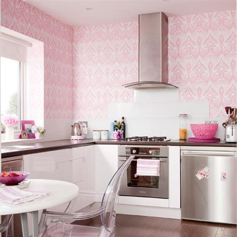 Интерьер стен маленькой кухни