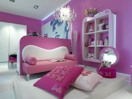 Fotos de quartos infantis decorados da Barbie 2 Fotos de quartos infantis decorados da Barbie