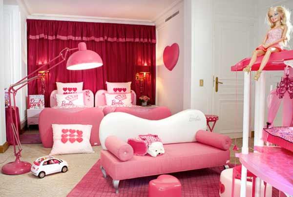 fotos de quartos infantis decorados da barbie