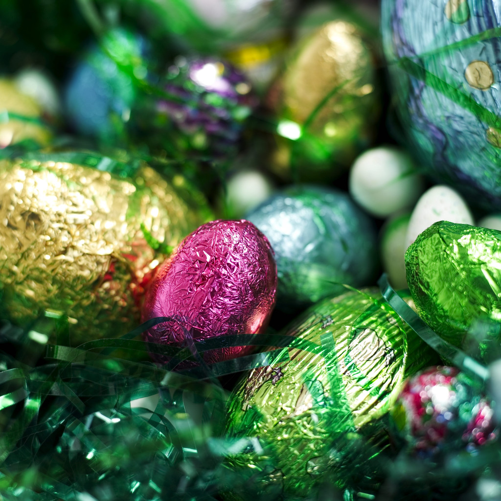Foil Wrapped Easter Eggs