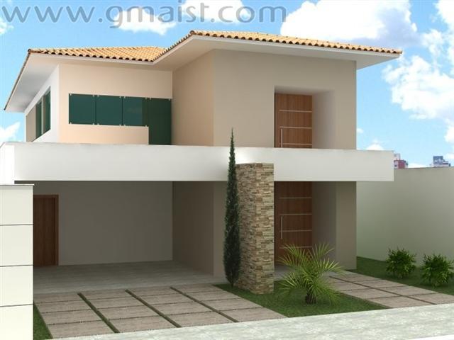 Fotos de fachadas de casas com pedras for Modelos de fachadas para casas