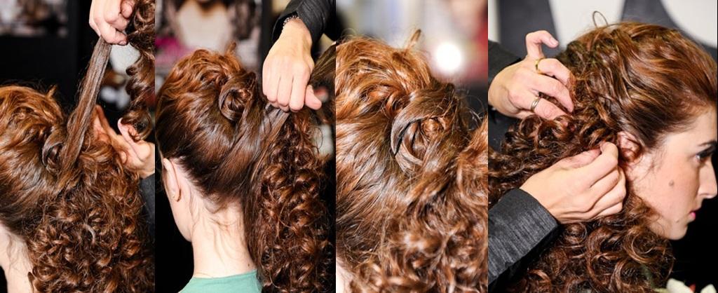 Pentado cabelo Cacheados3 Penteados simples para cabelos cacheados passo a passo
