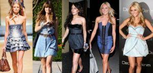 Modelos de Vestidos Jeans 2012