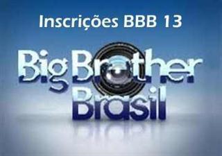 bbb13 inscrições bbb13
