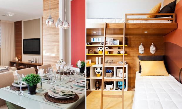 decoracao mini kitnet:Opte por decorar o espaço com cores e madeiras claras, pois elas