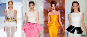 Moda de Vestidos e Saias Peplum