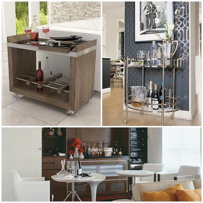 #474474 Sala de estar decorada com barzinho 400x400 píxeis em Bar Para Sala De Estar Moderno Com Rodas
