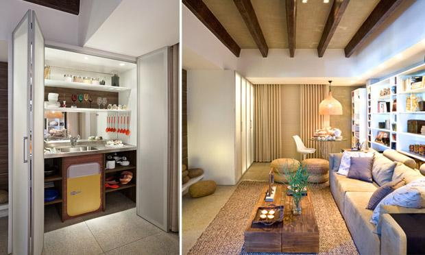 decoracao de ambientes pequenos e integrados : decoracao de ambientes pequenos e integrados:Uma sugestão bem legal é manter os ambientes integrados, porém
