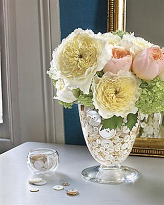 Decora o com vasos de vidro - Terras arrangement ...