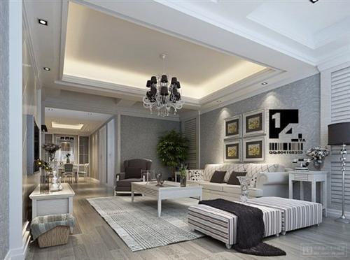 Decoração luxuosa de sala de estar (2)