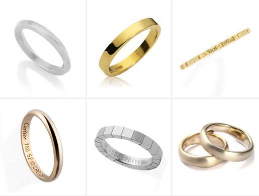 alianças lisas Tendências de Alianças de casamento 2012 2013