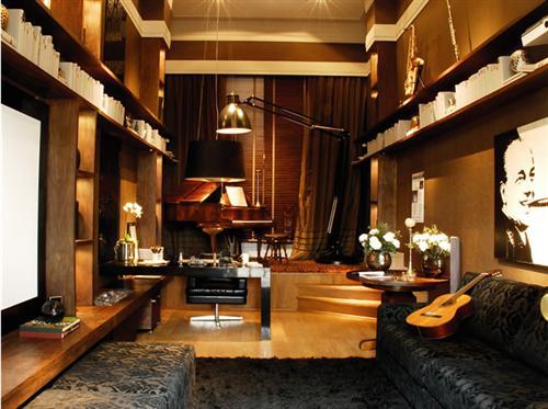 Sala De Estar Letra ~ piano ao fundo criar uma decoração luxuosa, dando personalidade e