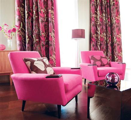 Modelos de cortinas para sala de estar e jantar for Cortinas estampadas modernas