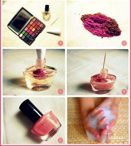 esmalte com blush Como fazer esmalte em casa