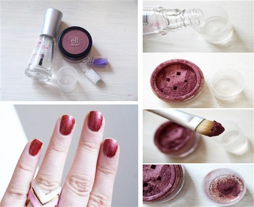 maquiagem e esmalte 4 Como fazer esmalte em casa