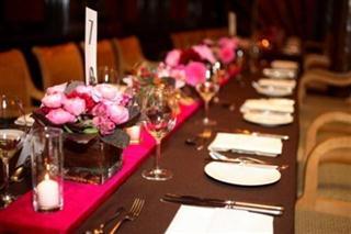 marrom e rosa casamento