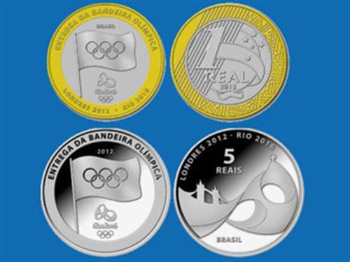moedas comemorativas olimpiadas