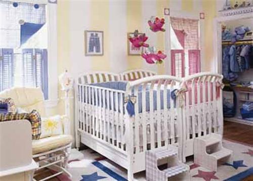 Decora o para quarto de g meos casal for Bedroom ideas for baby boy and girl sharing