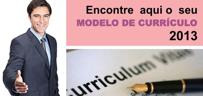 MODELO DE CURRICULUM 2013
