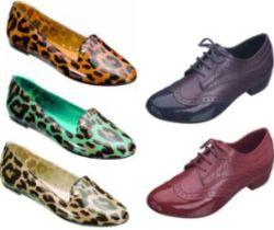 Modelos de Calçados Slippers e Oxfords