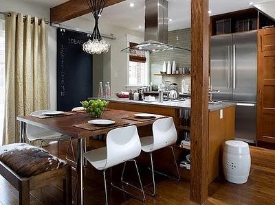 Cozinha americana com madeira (Foto:Divulgação)