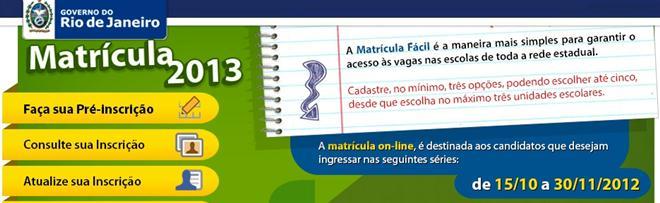 Antecipe-se! Faça sua pré-matrícula no RJ (foto: Divulgação)