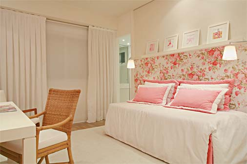 Decoração para quarto de meninas ~ Quarto Romantico Simples