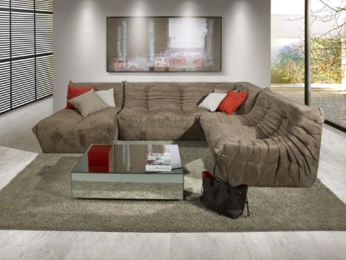 Sof s modernos de canto fotos e modelos - Modelos de sofas modernos ...