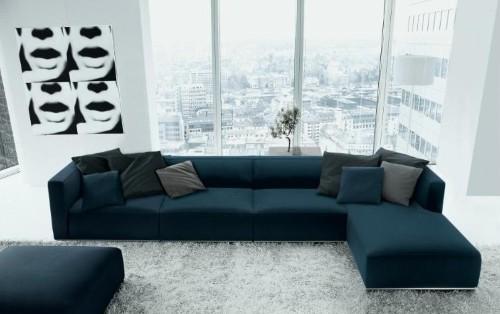 Sof s modernos de canto fotos e modelos for Imagenes de sofas modernos