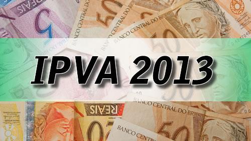 IPVA 2013. (Foto: Divulgação).
